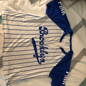 Cropped Los Angeles Dodgers PINK shirt